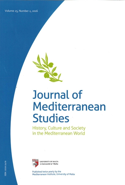 Journal of Mediterranean Studies Volume 25
