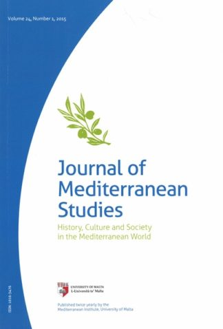 Journal of Mediterranean Studies Volume 24