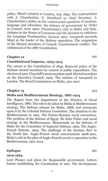 Constitutional History of Malta 1800 - 1914