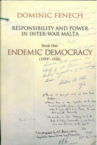 Book One: Endemic Democracy (1919 - 1930)