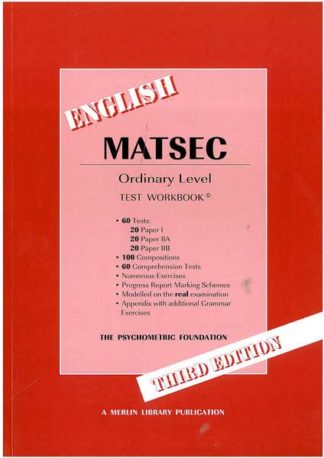 Matsec - English Ordinary Level - test workbook