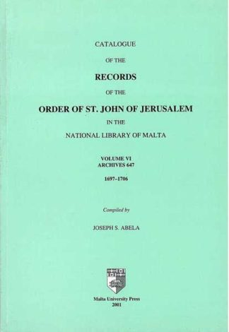Catalogue of the Records of the Order of St John of Jerusalem in