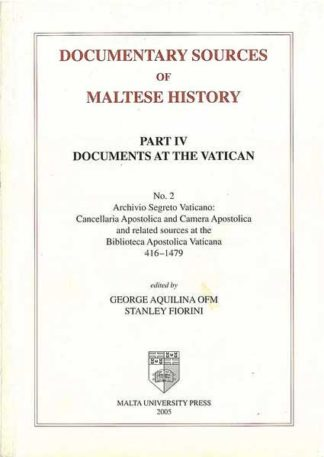 Documentary Sources of Maltese History Part IV No 2
