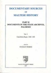 Documentary Sources of Maltese History Part II No 3