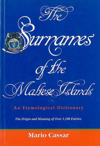 The Surnames of the Maltese Islands - PB