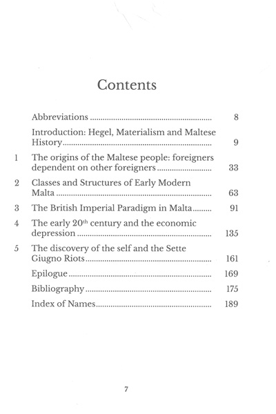 A Materialist Revision of Maltese History 870-1919