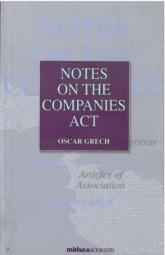 Notes On The Companies Act