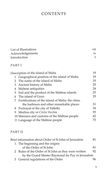 The Island of Malta and the Order of St John