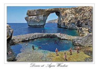 Divers at Azure Window (Pack of 50) #356