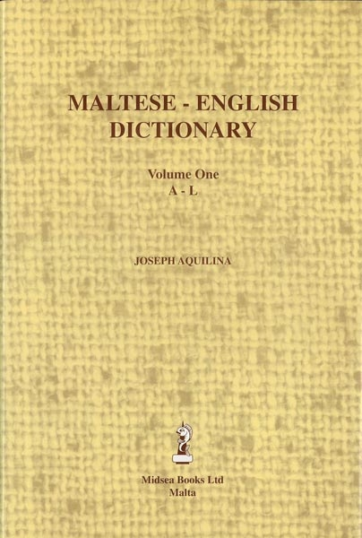 Maltese - English Dictionary Volume 1 A - L