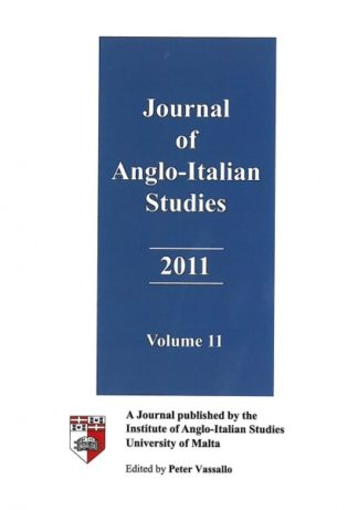 Journal of Anglo-Italian Studies 2011 - Volume 11