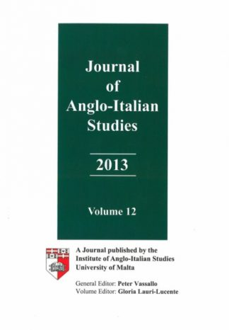 Journal of Anglo-Italian Studies 2013