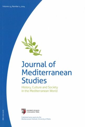 Journal of Mediterranean Studies Volume 23