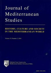 Journal of Mediterranean Studies Vol 19 No 2