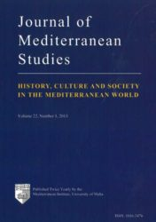 Journal of Mediterranean Studies Volume 22