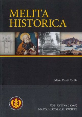 Melita Historica Vol. XVII No 2 BDL Books