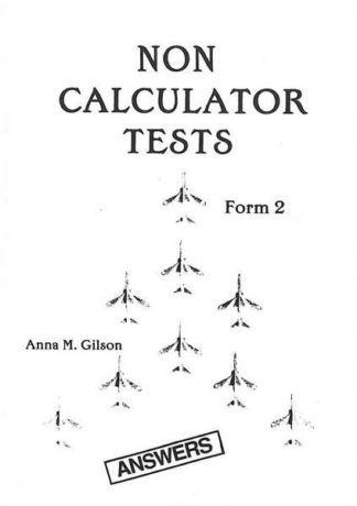 Non Calculator Tests Form 2 - Answers