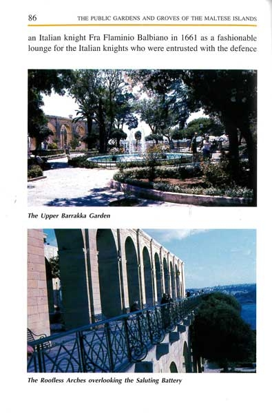 The Public Gardens And Groves of the Maltese Islands