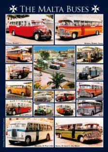 The Malta Buses - Coloured Routes