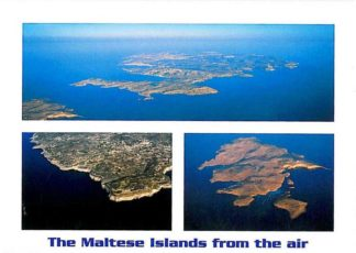 Folder with 12 views of the Maltese Islands from the Air