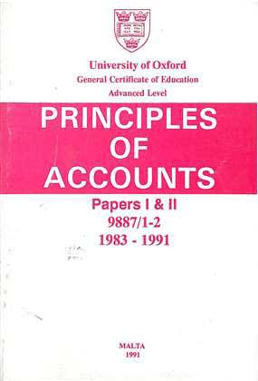 Principles Of Accounts - Papers I & II - 9887/1-2