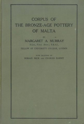 Corpus of the Bronze-Age Pottery of Malta