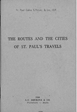 The Routes and The Cities Of St. Paul's Travels
