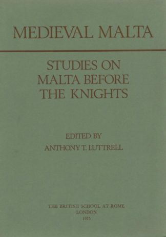 Medieval Malta: Studies on Malta Before the Knights