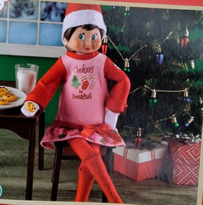 claus couture elf on the shelf nightgown